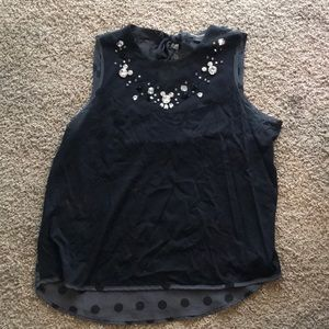 Disney store dressy top with hidden Mickey